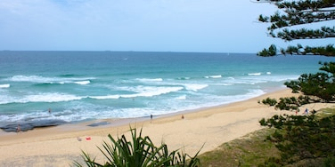 Kawana Beach featuring landscape views and a beach