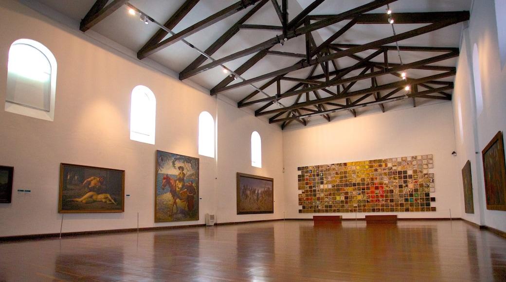 Bogota featuring art and interior views