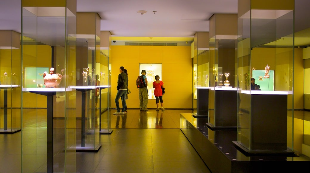 Gold Museum featuring interior views as well as a small group of people