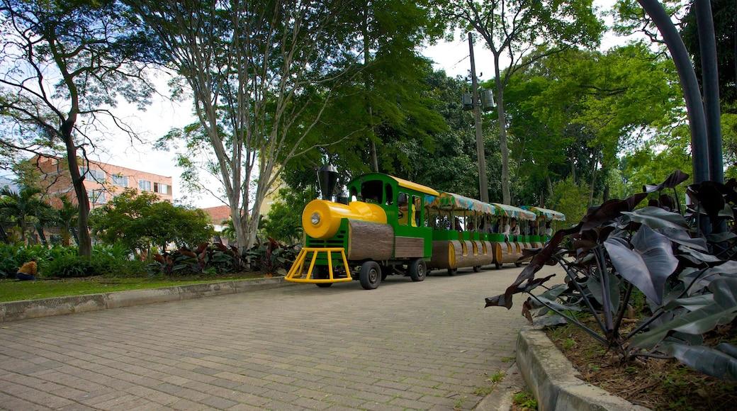 Jardin botanique JoaquínAntonioUribe qui includes parc et articles ferroviaires