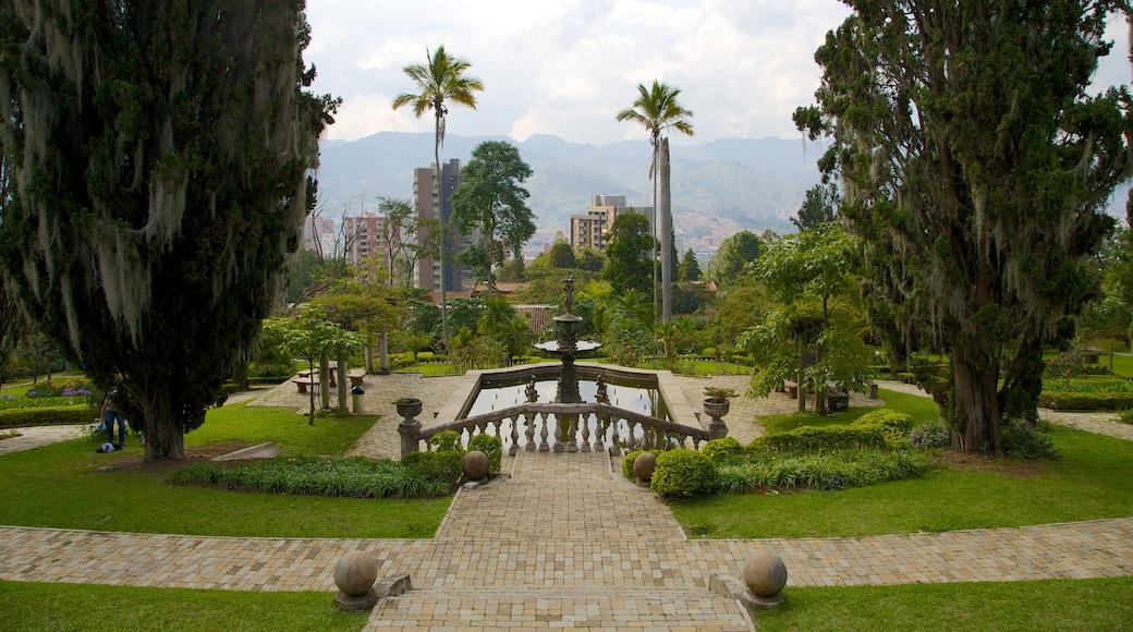 Musée El Castillo montrant fontaine, château et parc
