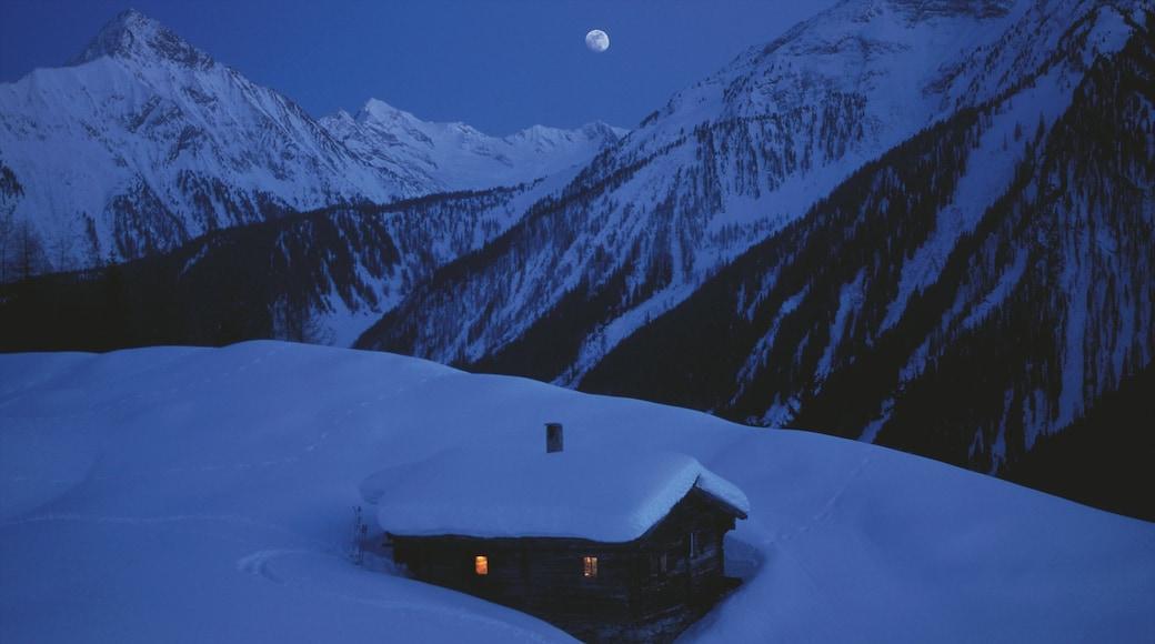 Mayrhofen welches beinhaltet Berge, Landschaften und Schnee