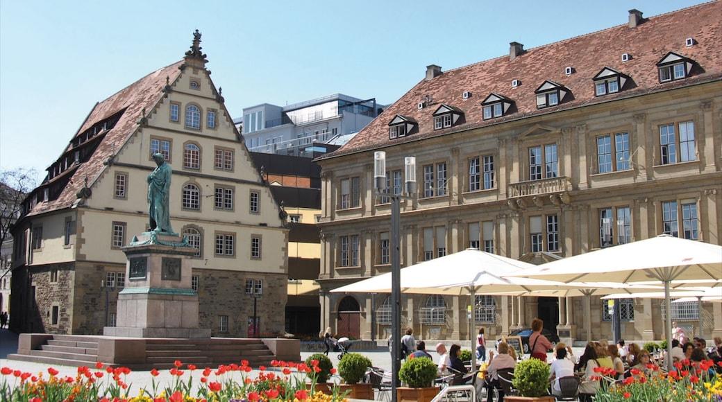 쉴러플라츠 광장 을 보여주는 도시, 야외 식사 과 기념물