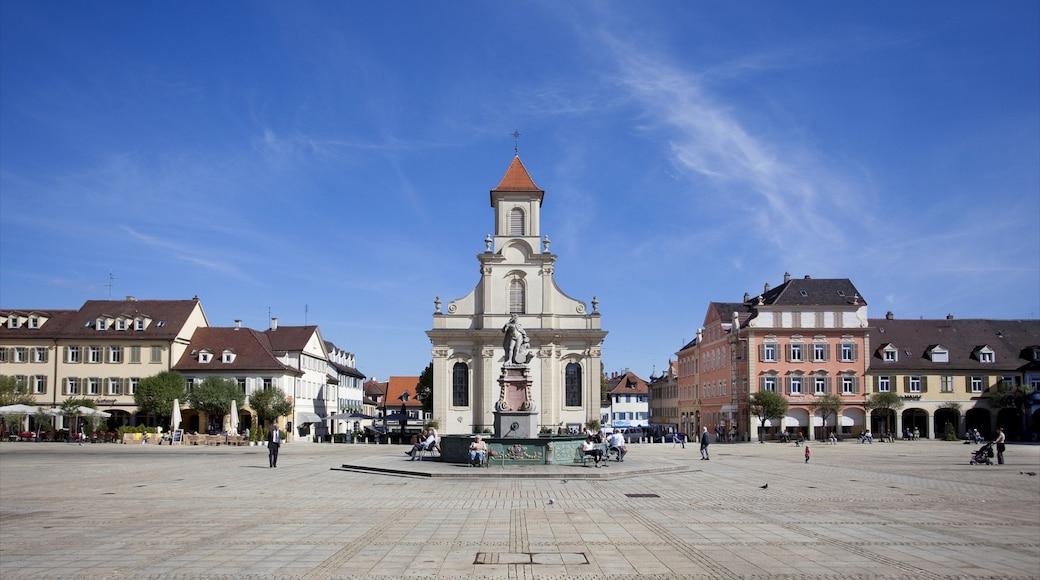 루드빅스부르크 을 보여주는 광장, 동상 또는 조각상 과 기념물