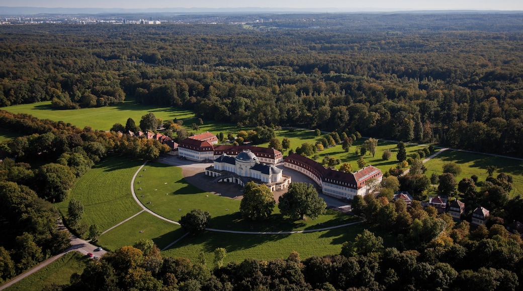 Solitude Palace which includes forests, a castle and heritage architecture