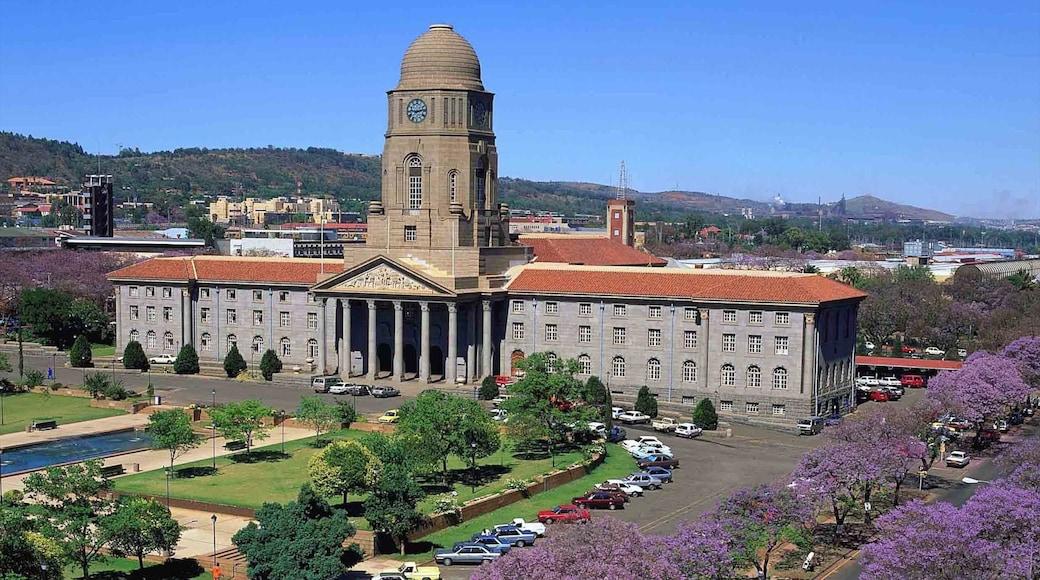 Pretoria mettant en vedette patrimoine architectural, bâtiment public et ville