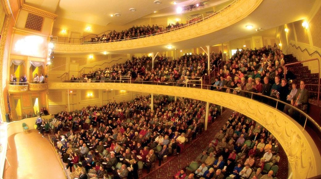 Allentown mostrando cenas de teatro, arte performática e música