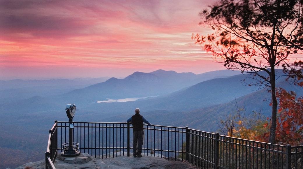 Greenville - Spartanburg mostrando vista, paesaggi rilassanti e tramonto