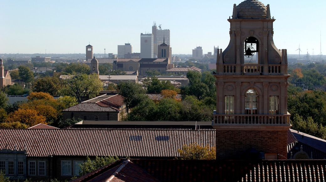 Lubbock showing a city, skyline and a church or cathedral
