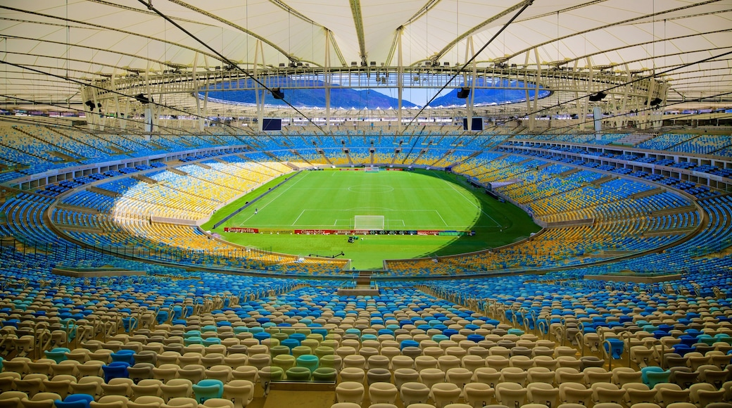 Estadio Maracaná ofreciendo vista interna y arquitectura moderna