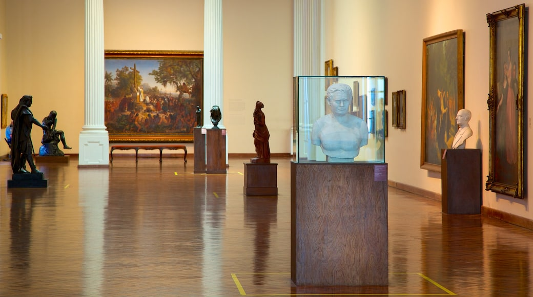 National Fine Arts Museum showing art and interior views
