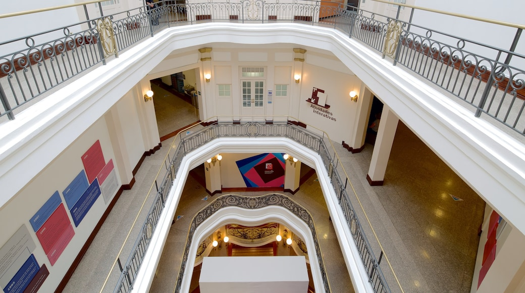 Bank of Brazil Cultural Center showing interior views