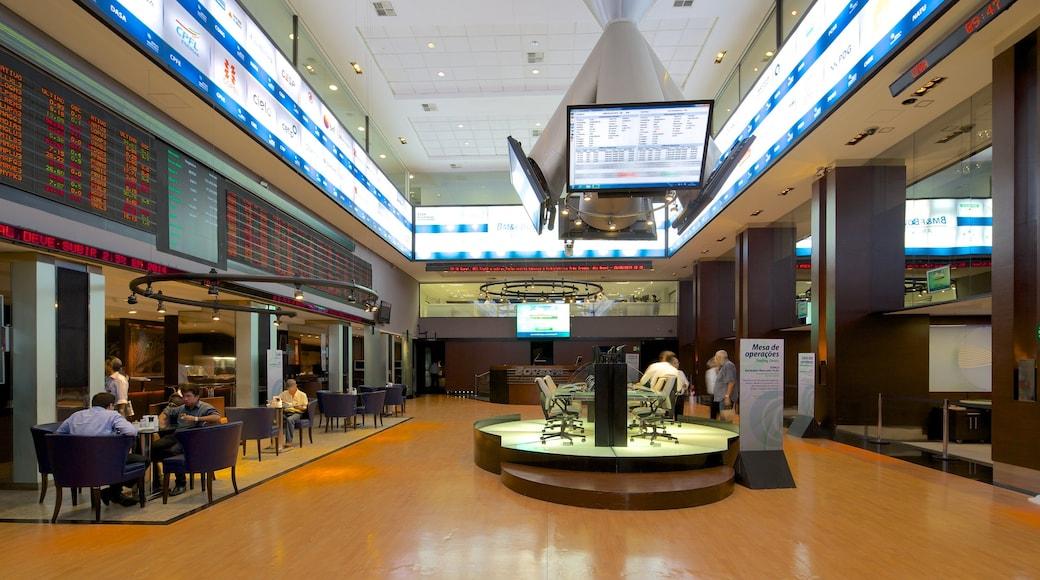 Sao Paulo Stock Exchange showing interior views