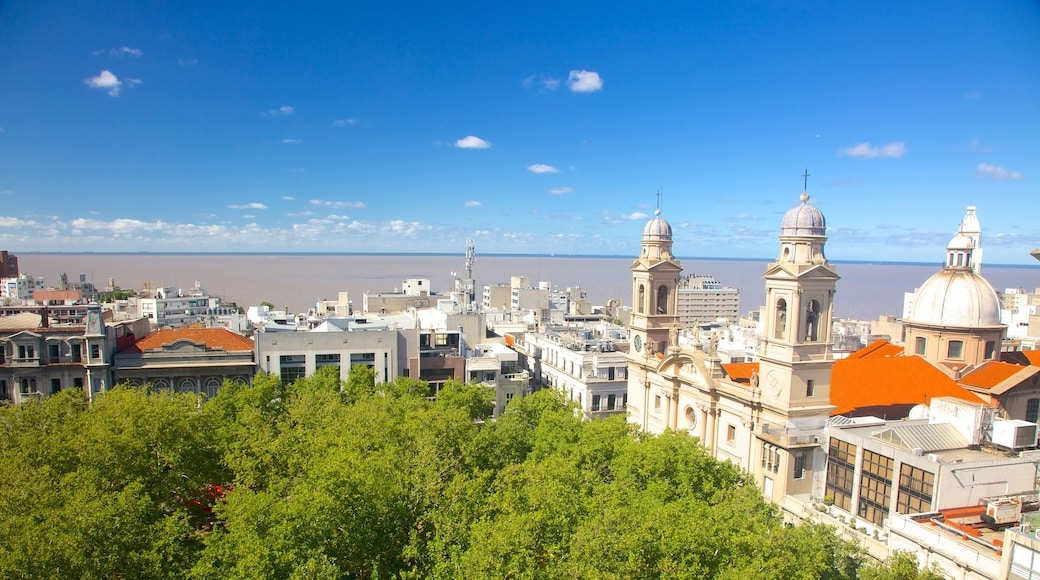 Montevideo Cathedral featuring a city, a church or cathedral and religious elements