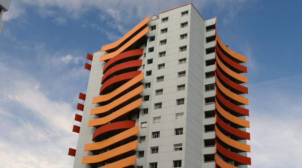 Punta del Este which includes modern architecture and a skyscraper