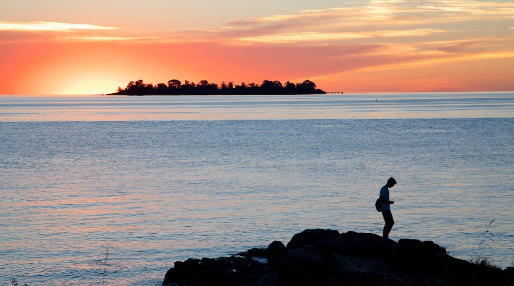 Colonia del Sacramento featuring general coastal views and a sunset