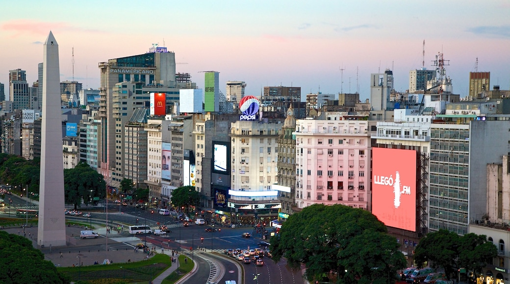 Buenos Aires showing a sunset and a city