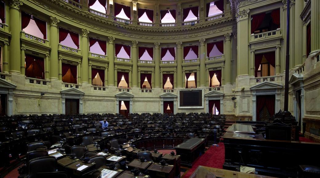 Argentiinan kansalliskongressi johon kuuluu sisäkuvat ja hallintorakennus