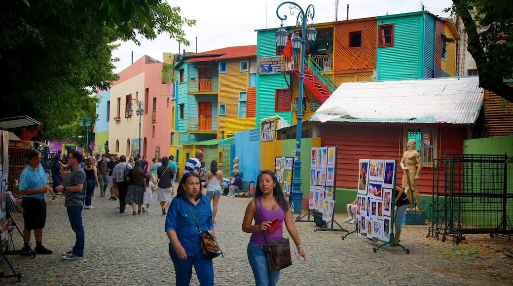 Caminito Street Museum featuring street scenes