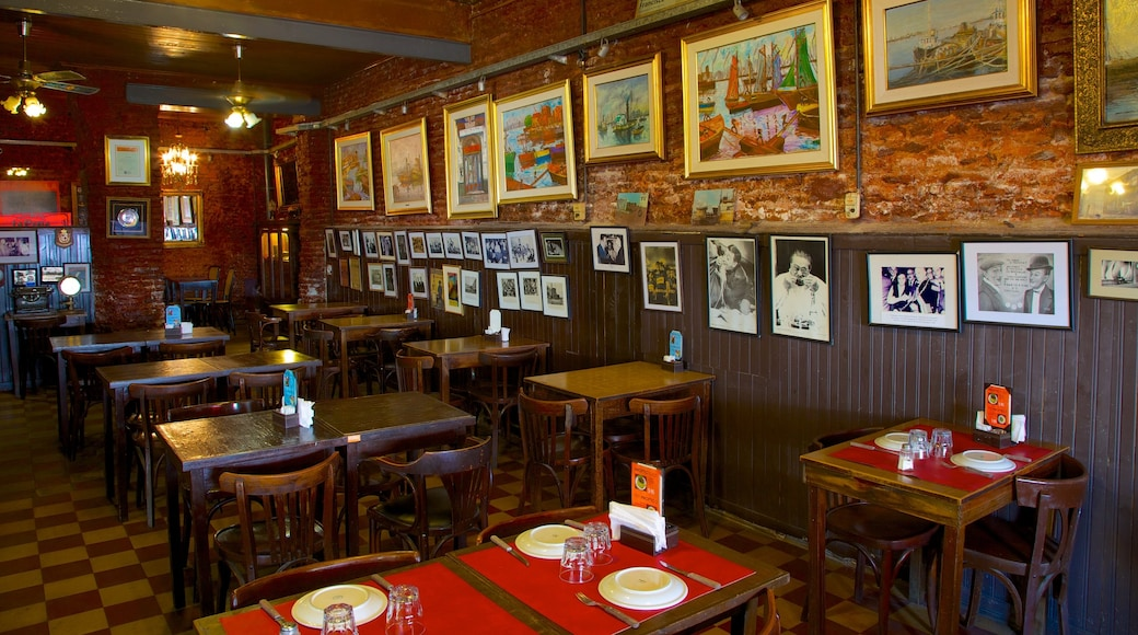 Caminito Street Museum featuring interior views and café scenes