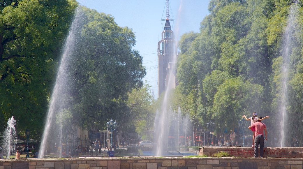 Independence Square which includes a fountain