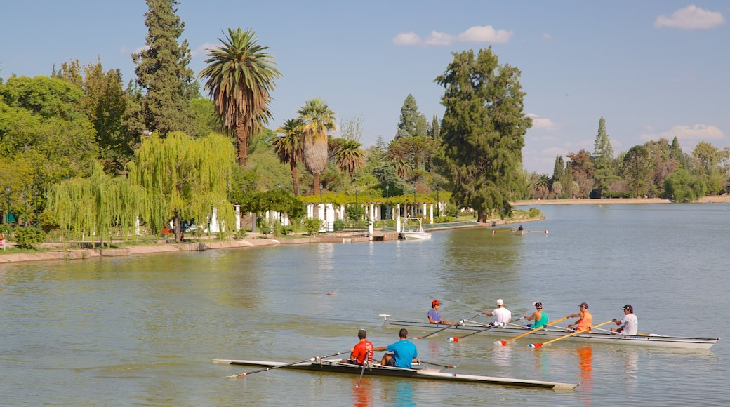 General San Martin Park which includes a lake or waterhole, a park and kayaking or canoeing