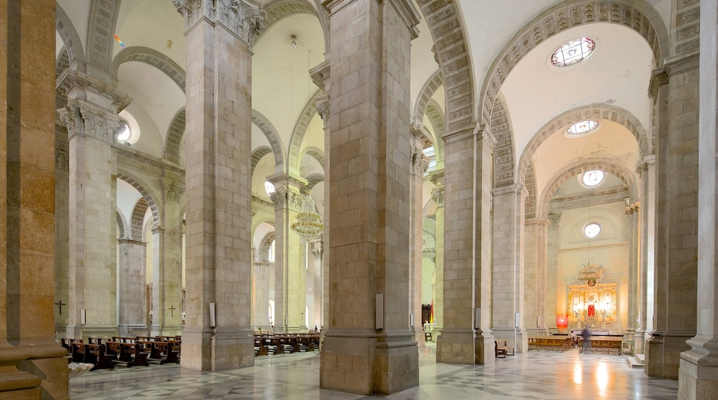 Plaza Murillo which includes interior views, a church or cathedral and heritage architecture