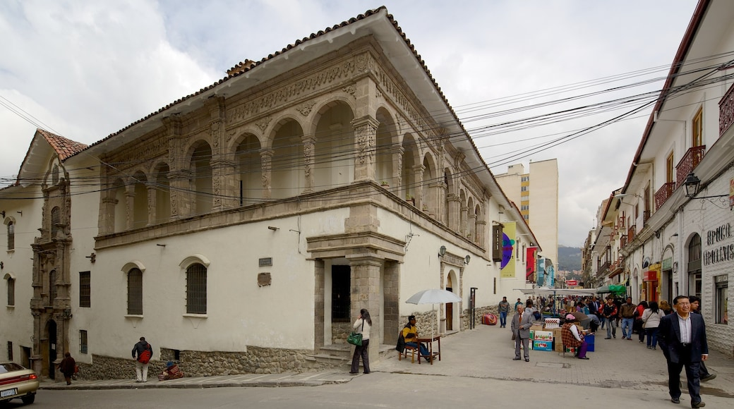 National Museum of Art showing street scenes, heritage architecture and a city