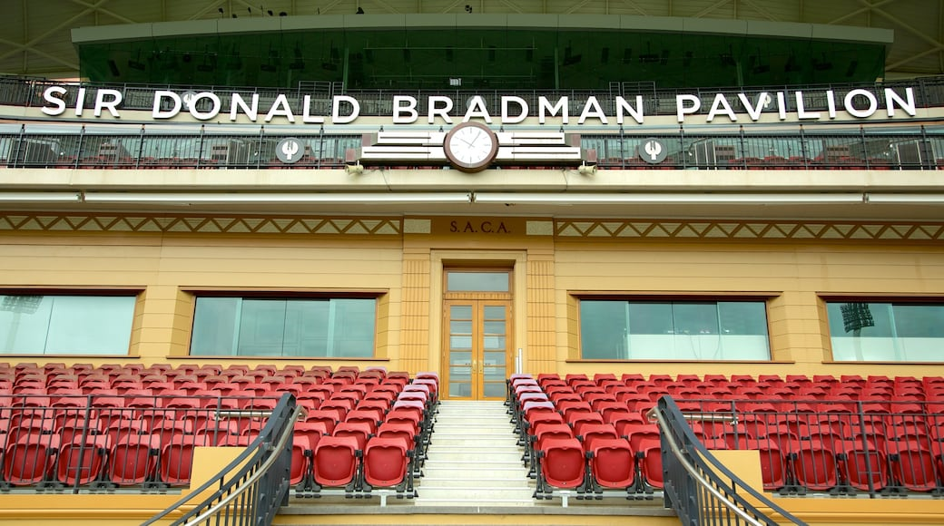 Adelaide Oval featuring signage