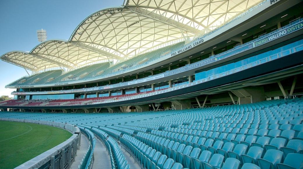 Adelaide Oval which includes modern architecture
