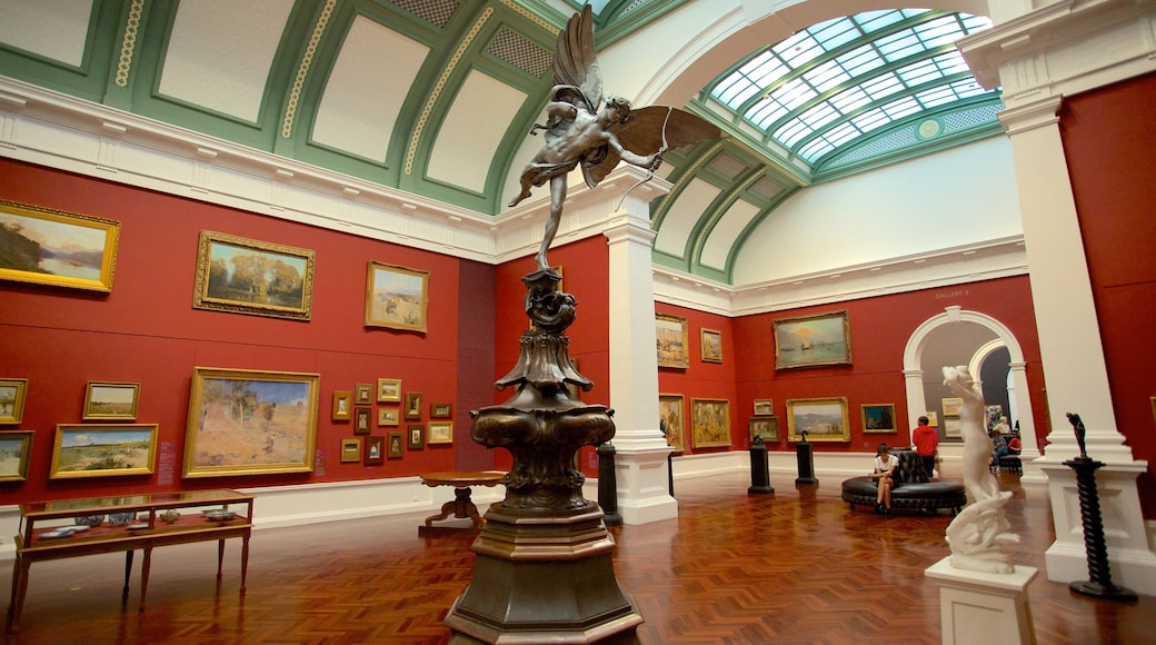 Art Gallery of South Australia showing art and interior views