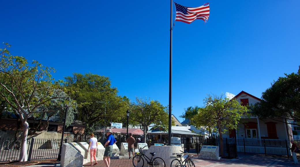 Mallory Square showing a city, a small town or village and a square or plaza