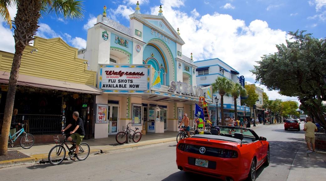 Key West featuring street scenes