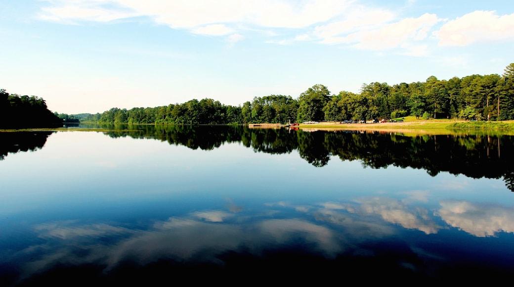 Fayetteville mit einem See oder Wasserstelle