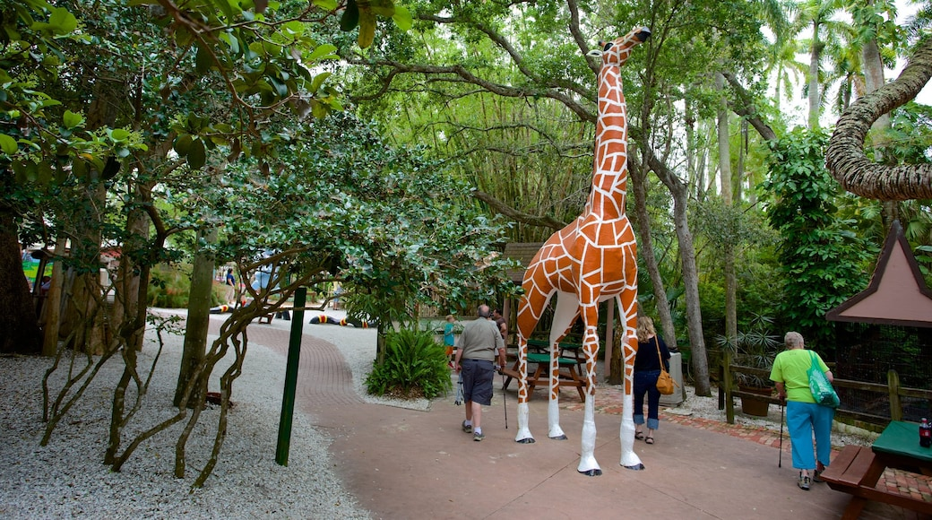 Sarasota Jungle Gardens showing a statue or sculpture