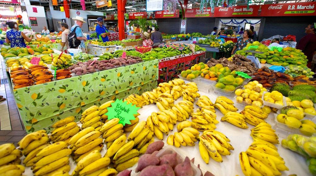 Markt von Papeete welches beinhaltet Märkte und Speisen