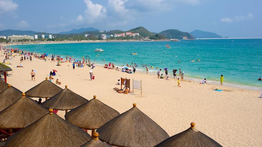 Dadongdai Beach which includes a sandy beach and general coastal views