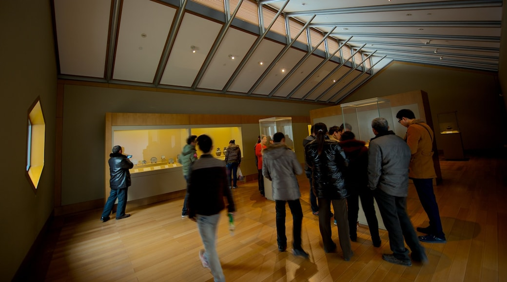 Suzhou Museum which includes interior views as well as a large group of people