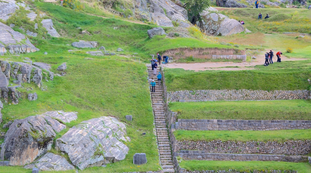 Sacsayhuaman featuring heritage elements and hiking or walking