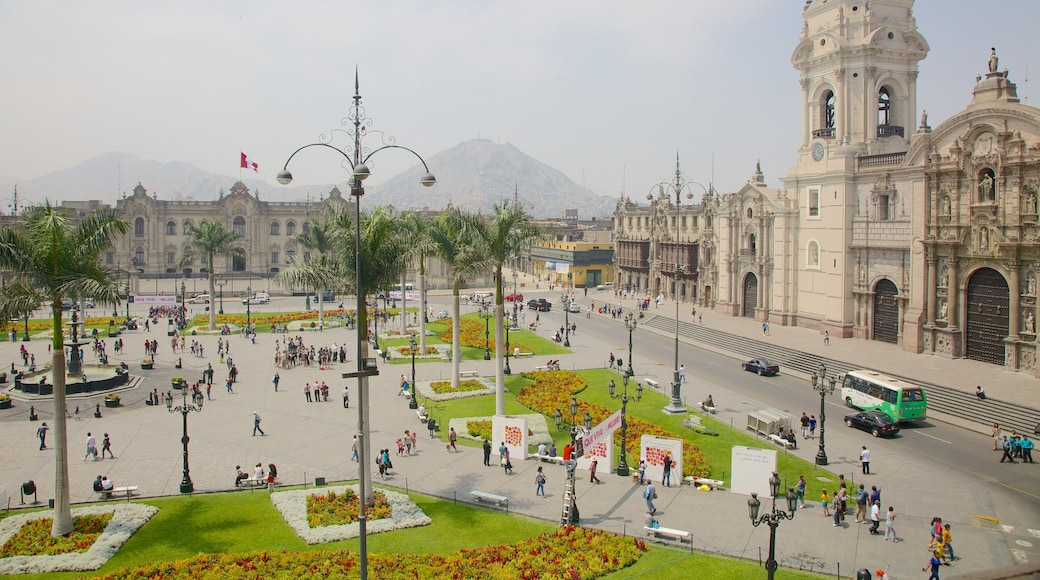 Plaza Mayor which includes a square or plaza, a city and landscape views