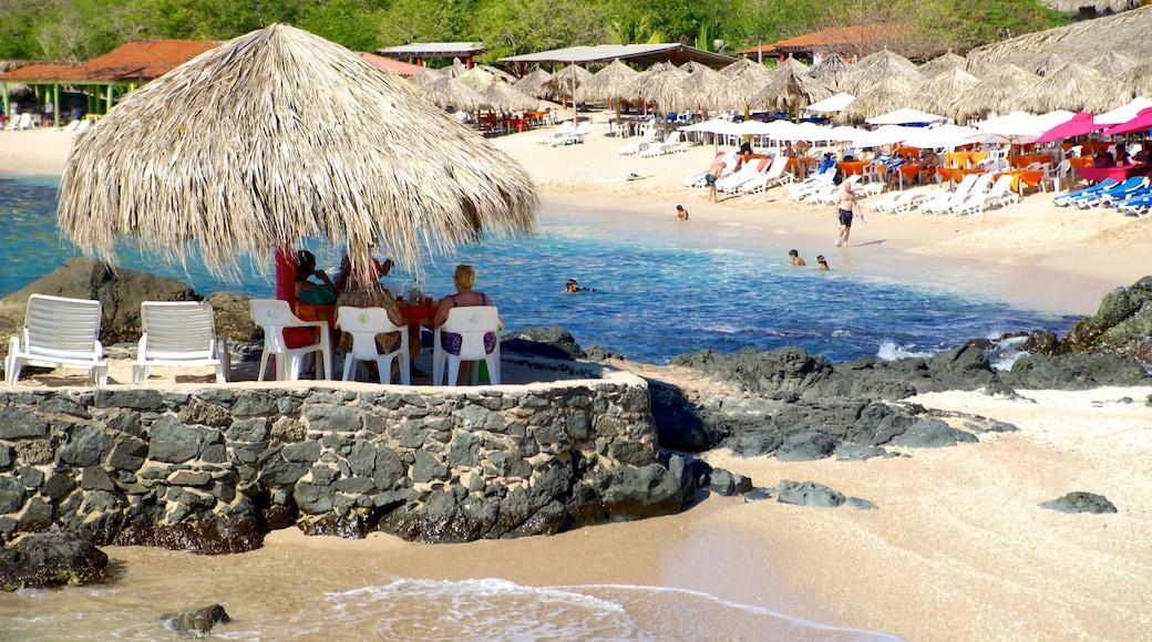 Ixtapa Island featuring a sandy beach, general coastal views and tropical scenes