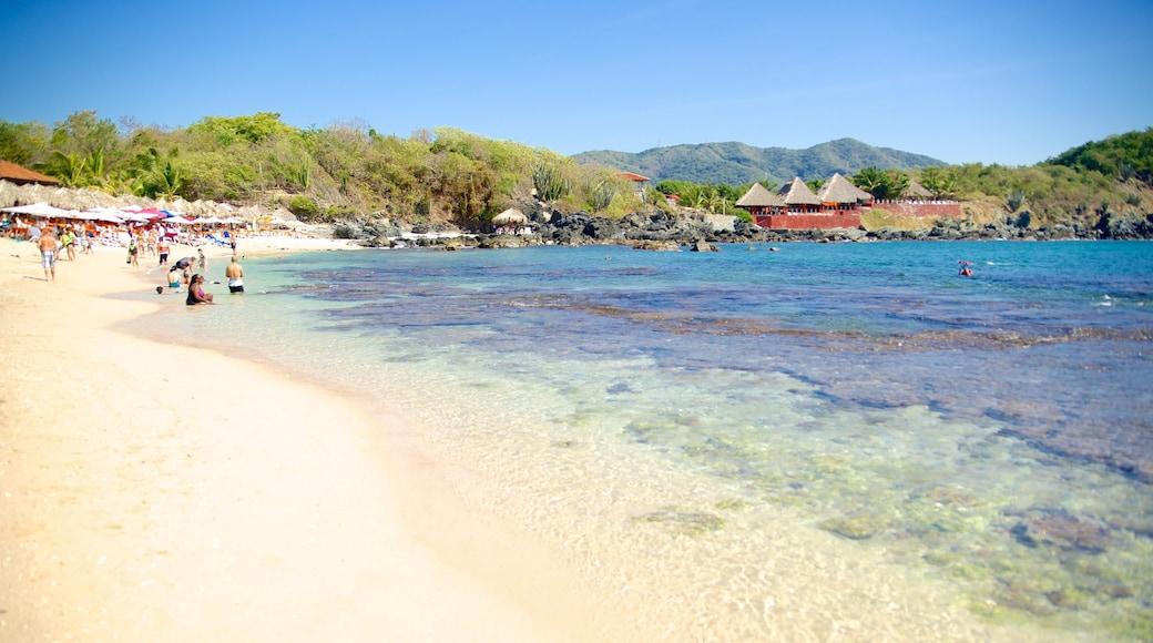 Ixtapa Island which includes a beach