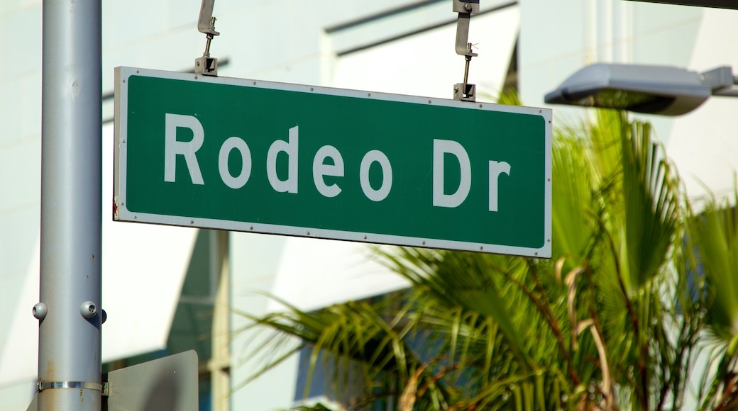 Rodeo Drive showing signage