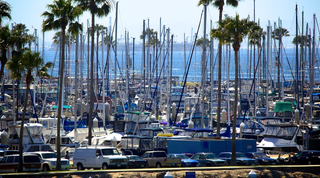 Long Beach featuring boating and a marina