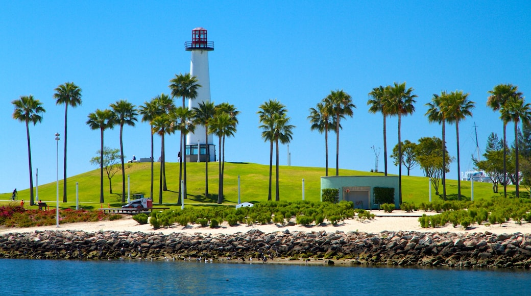 Long Beach which includes tropical scenes and general coastal views