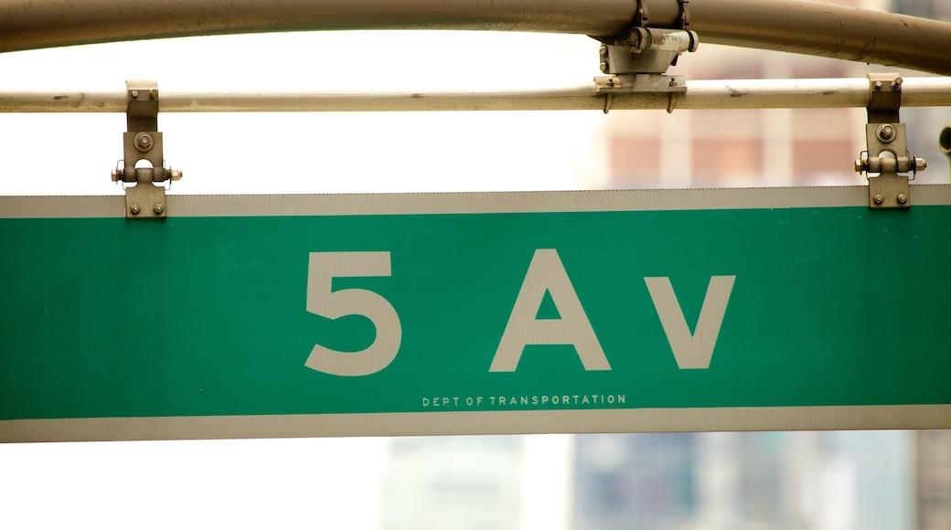 5th Avenue caratteristiche di segnaletica