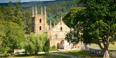 Port Arthur Historic Site featuring a church or cathedral and heritage architecture