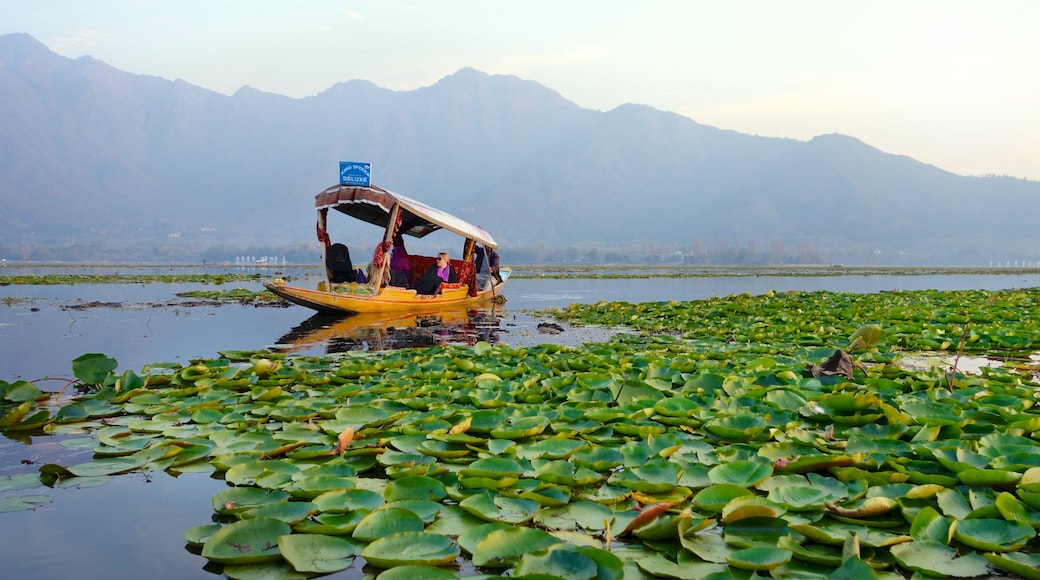 Jammu and Kashmir which includes landscape views, a lake or waterhole and boating