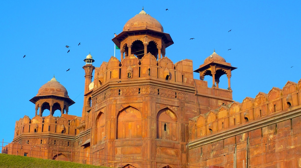 Delhi showing heritage architecture and a castle