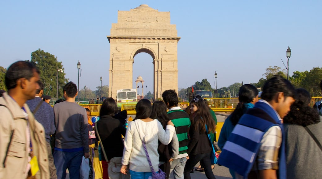 Delhi which includes heritage architecture, a city and a monument
